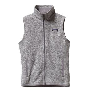 Light gray Patagonia Zip up vest worn once!